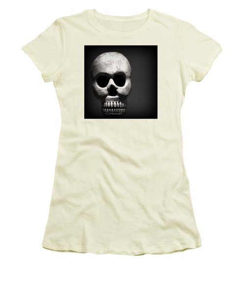 Skull Women's T-Shirt (Junior Cut) by Joseph Skompski