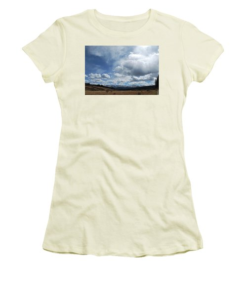 Women's T-Shirt (Junior Cut) featuring the photograph Sky Of Shrine Ridge Trail by Amee Cave