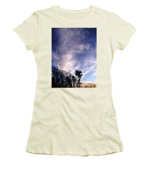 Women's T-Shirt (Junior Cut) featuring the photograph Sky Study 2 3/11/16 by Melissa Stoudt