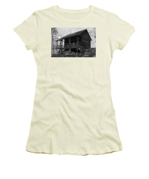 Women's T-Shirt (Junior Cut) featuring the photograph Slabsides In Spring by Jeff Severson