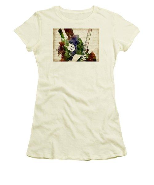 Slash Watercolor Women's T-Shirt (Athletic Fit)