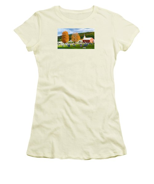 Women's T-Shirt (Junior Cut) featuring the photograph Sleeping Peacefully by Jeanette Oberholtzer