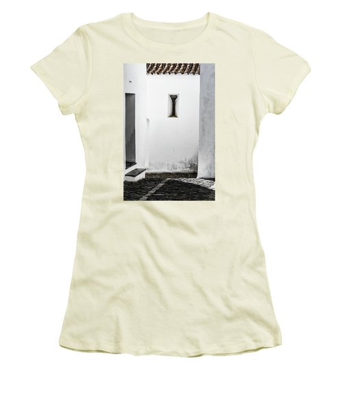 Women's T-Shirt (Junior Cut) featuring the photograph Small Window In White Wall by Edgar Laureano