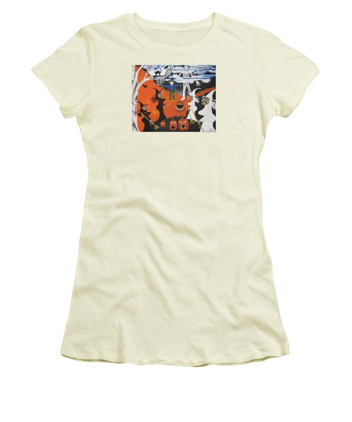 Smokey Halloween Women's T-Shirt (Athletic Fit)