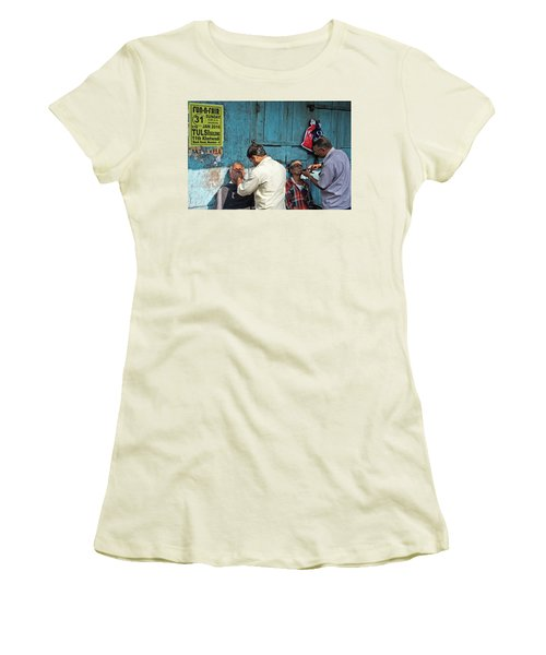 Women's T-Shirt (Junior Cut) featuring the photograph Snip And Tuck by Marion Galt