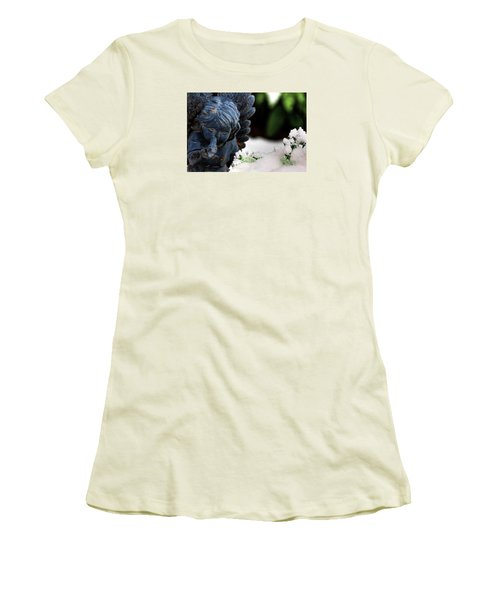 Women's T-Shirt (Junior Cut) featuring the photograph Snow Angel Whisperer by Shelley Neff