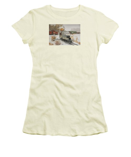 Women's T-Shirt (Junior Cut) featuring the photograph Snow Goose by Ken Smith