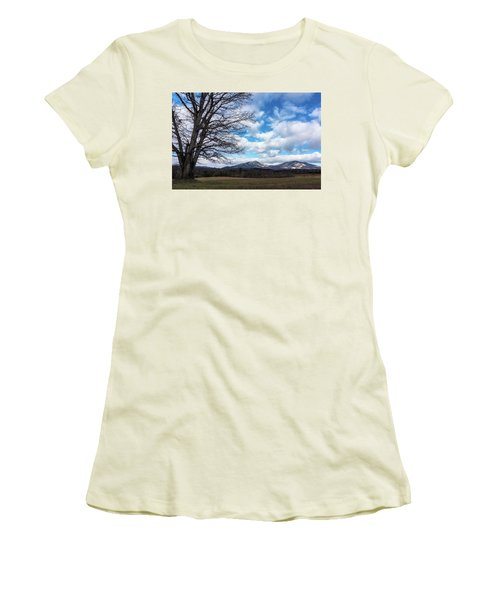 Snow In The High Mountains Women's T-Shirt (Athletic Fit)