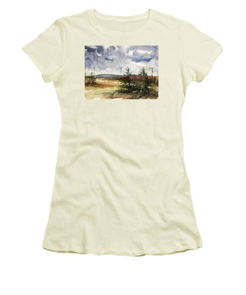 Snow Sky In Fall Women's T-Shirt (Athletic Fit)