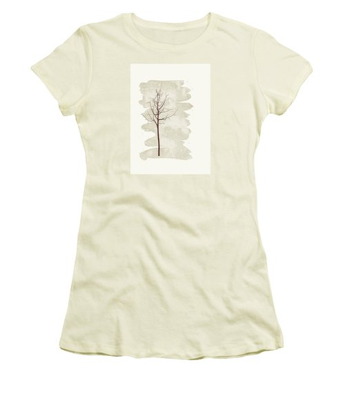 Women's T-Shirt (Junior Cut) featuring the painting Snowflakes Swirl by Kandy Hurley