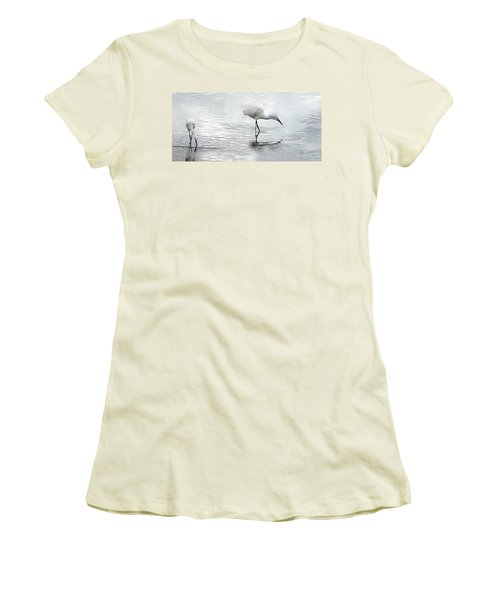 Snowy Egrets Women's T-Shirt (Athletic Fit)