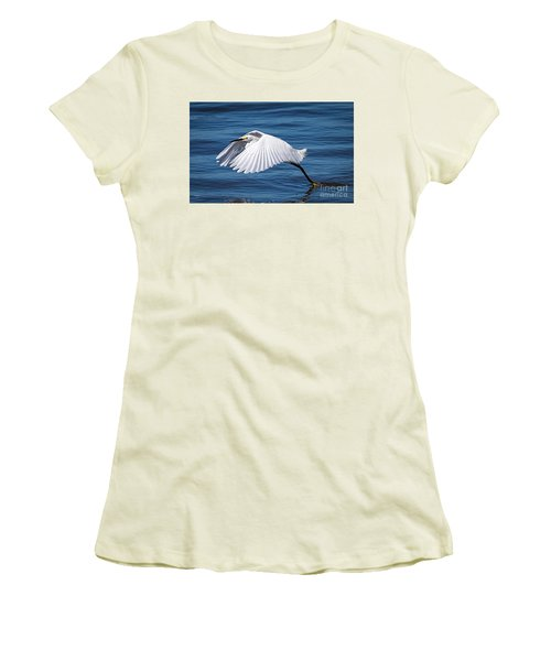 Snowy Liftoff Women's T-Shirt (Athletic Fit)