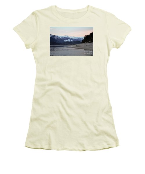Women's T-Shirt (Junior Cut) featuring the photograph Snowy Mountains by Victor K