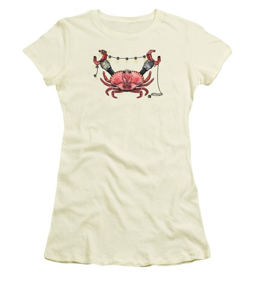 So Crabby Chic Women's T-Shirt (Junior Cut) by Kelly Jade King