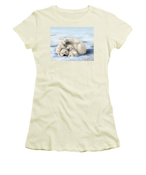 Women's T-Shirt (Junior Cut) featuring the painting So Much Love by Veronica Minozzi