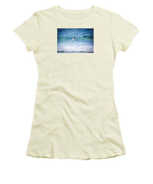 Soaring Over The Ocean Women's T-Shirt (Junior Cut) by Shelby Young