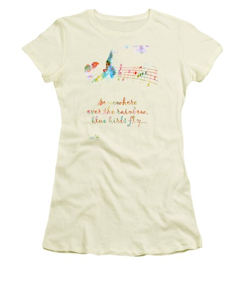 Somewhere Over The Rainbow Women's T-Shirt (Junior Cut) by Nikki Smith