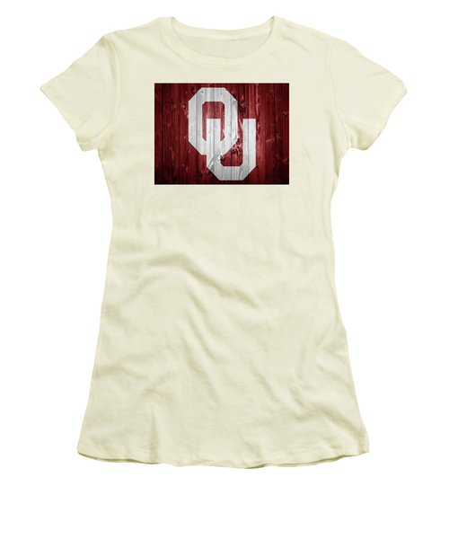 Sooners Barn Door Women's T-Shirt (Junior Cut) by Dan Sproul