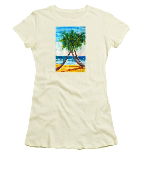 South Beach Palms Women's T-Shirt (Athletic Fit)