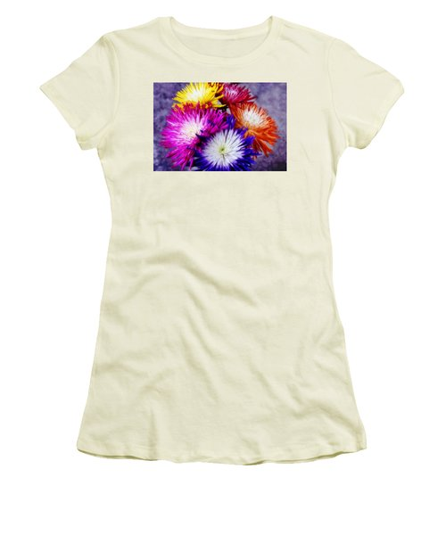 Women's T-Shirt (Junior Cut) featuring the photograph Spider Mums by Joan Bertucci