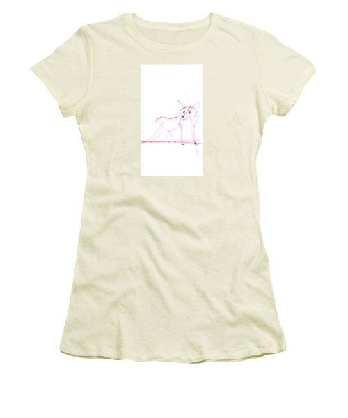 Spirit Animal . Ghost Fox Women's T-Shirt (Athletic Fit)