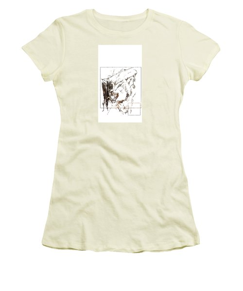 Spirit Animal . Wolf Women's T-Shirt (Junior Cut) by John Jr Gholson