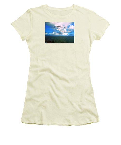 Spiritual Belief Women's T-Shirt (Athletic Fit)
