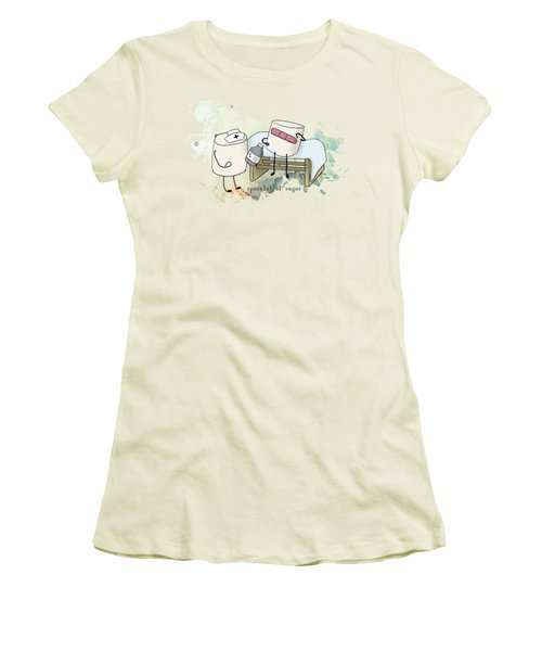 Spoonful Of Sugar Words Illustrated  Women's T-Shirt (Junior Cut) by Heather Applegate