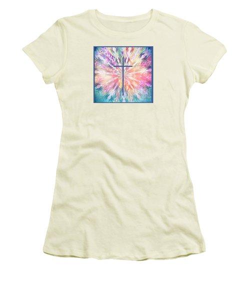 Women's T-Shirt (Junior Cut) featuring the photograph Spring Cross by Geraldine DeBoer