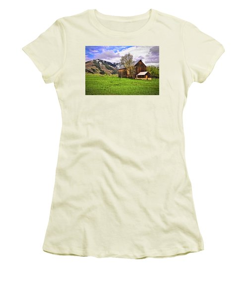 Women's T-Shirt (Junior Cut) featuring the digital art Spring Is All Ways A Good Time Of The Year by James Steele