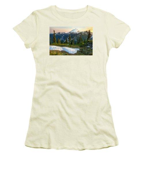 Women's T-Shirt (Junior Cut) featuring the photograph Spring Melt by Ryan Manuel
