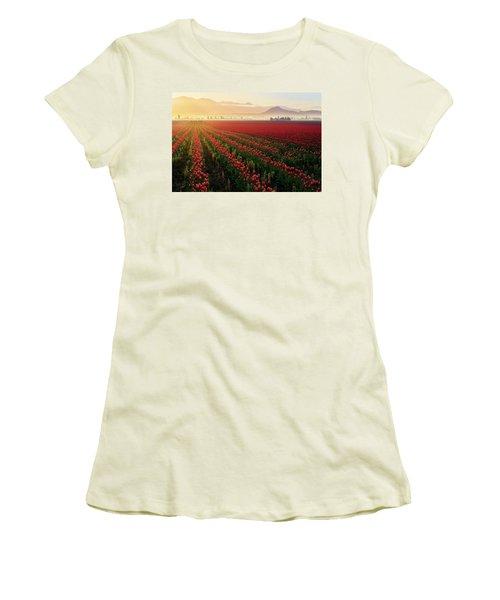 Women's T-Shirt (Junior Cut) featuring the photograph Spring Palette by Ryan Manuel