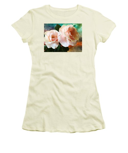 Women's T-Shirt (Junior Cut) featuring the photograph Spring Roses by Gabriella Weninger - David
