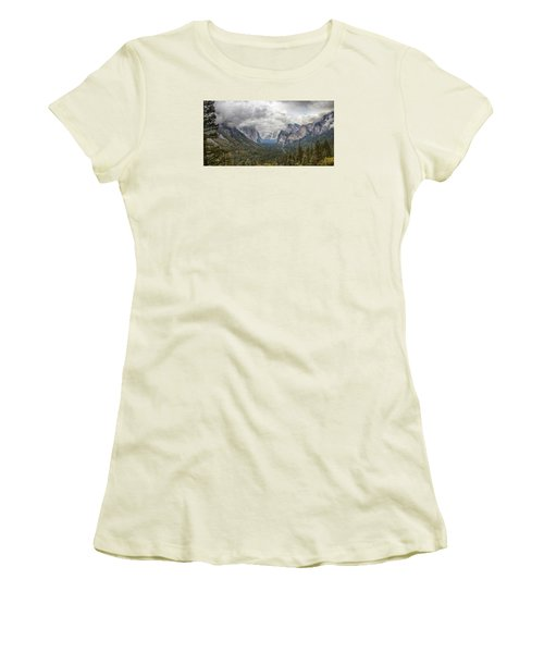 Women's T-Shirt (Junior Cut) featuring the photograph Spring Storm Yosemite by Harold Rau