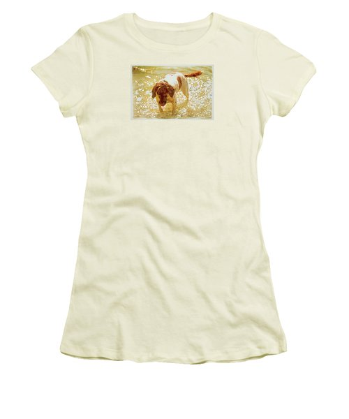 Women's T-Shirt (Junior Cut) featuring the photograph Springer Wc by Constantine Gregory