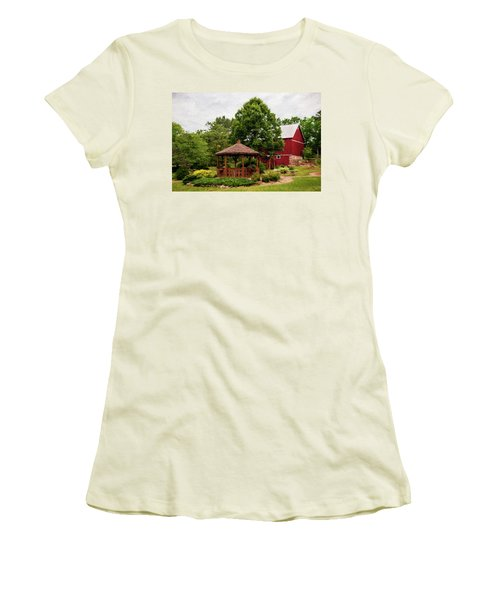 Women's T-Shirt (Junior Cut) featuring the photograph Springwater Park by Trey Foerster