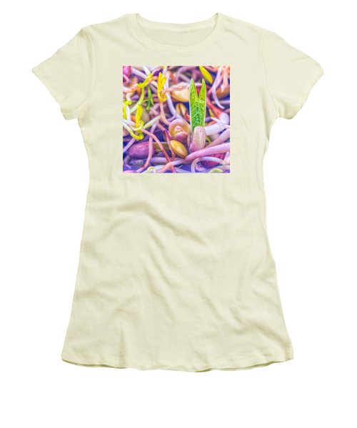 Women's T-Shirt (Junior Cut) featuring the photograph Sprouts Are Magic by TC Morgan