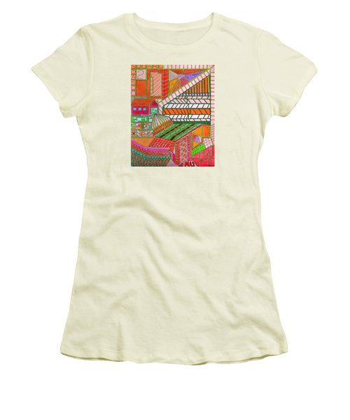 Square Dance 2 Women's T-Shirt (Athletic Fit)