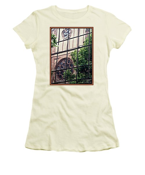 St Boniface Church In Reflection  Women's T-Shirt (Junior Cut) by Sarah Loft