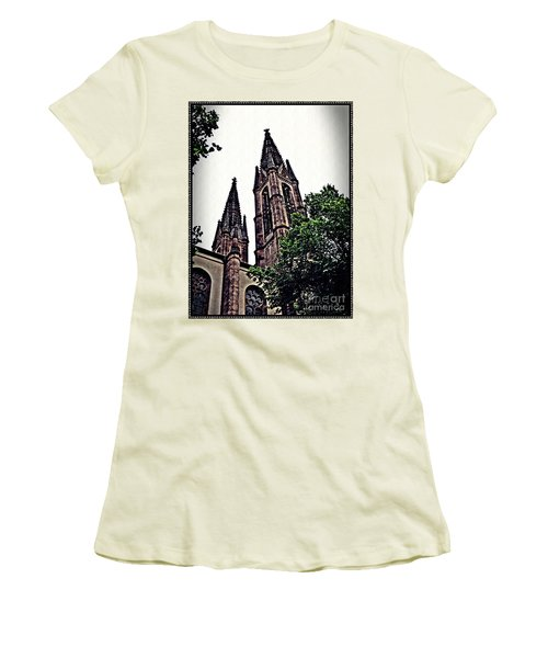 St Boniface Church Towers   Women's T-Shirt (Junior Cut) by Sarah Loft