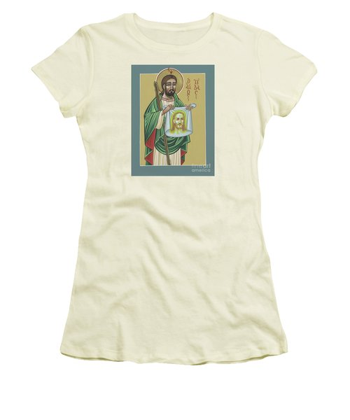Women's T-Shirt (Athletic Fit) featuring the painting St Jude Patron Of The Impossible 287 by William Hart McNichols