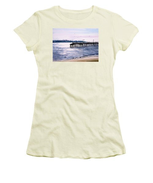 St. Simons Island Fishing Pier Women's T-Shirt (Athletic Fit)