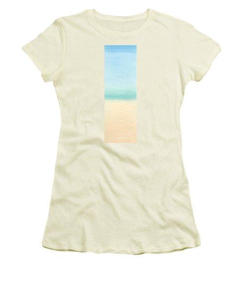 St Thomas #1 Seascape Landscape Original Fine Art Acrylic On Canvas Women's T-Shirt (Athletic Fit)