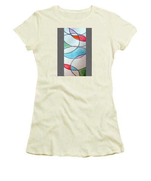 Stain Glass Women's T-Shirt (Junior Cut) by Loretta Nash