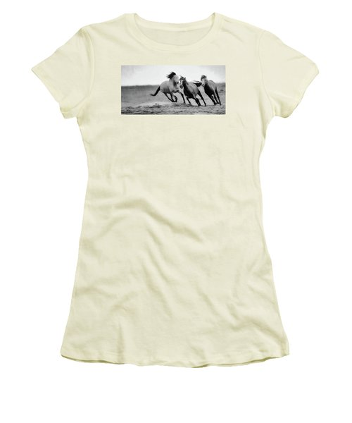 Women's T-Shirt (Junior Cut) featuring the photograph Stallion  by Kelly Marquardt