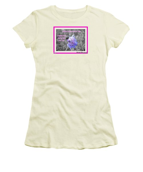 Standing Alone Women's T-Shirt (Junior Cut) by Holley Jacobs