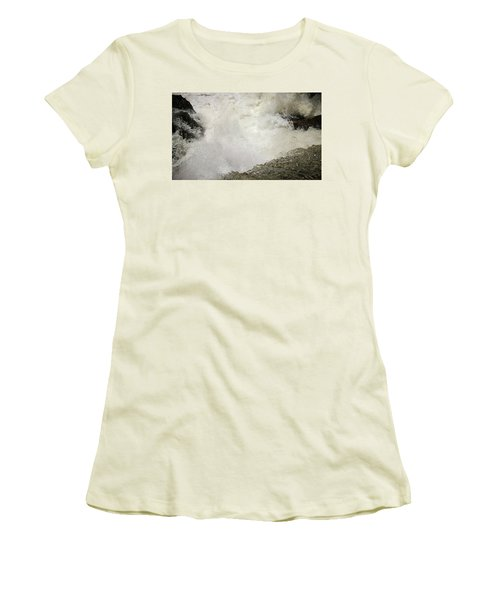 Standing On A Waterfall Women's T-Shirt (Athletic Fit)