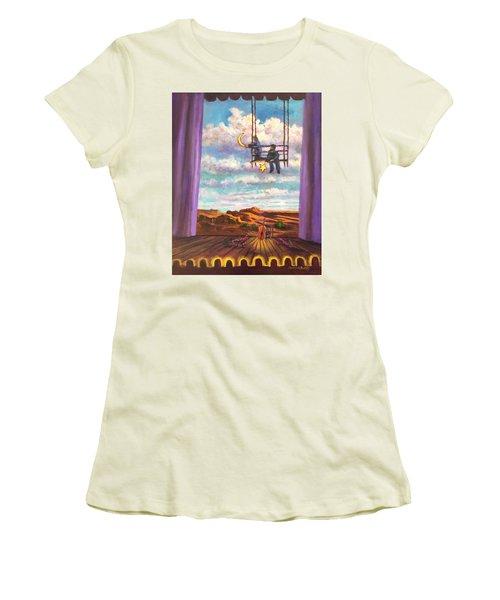 Starry Day Women's T-Shirt (Junior Cut) by Randy Burns