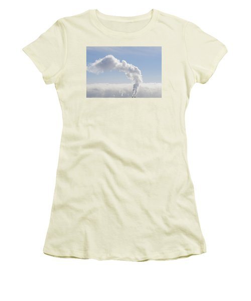 Steam Women's T-Shirt (Junior Cut) by Keith Armstrong