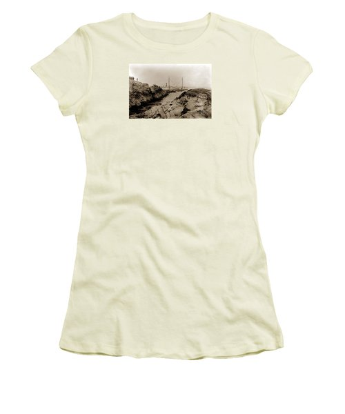 Steam Schooner S S J. B. Stetson, Ran Aground At Cypress Point, Sep. 1934 Women's T-Shirt (Athletic Fit)